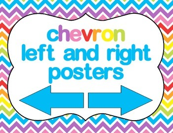 Chevron Left and Right posters