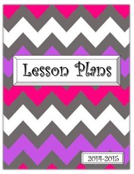 Chevron Lesson Plan Cover