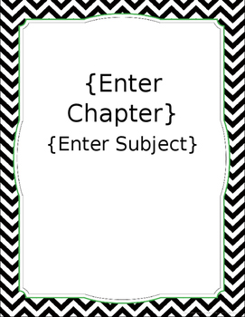 Chevron Lesson Plan Cover Page