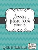 Chevron Lesson Plan Covers