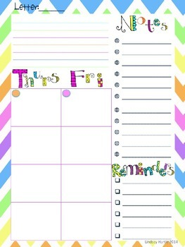 Chevron Lesson Plan Template and Binder Cover (EDITABLE)