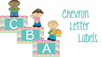 Chevron Letter Labels
