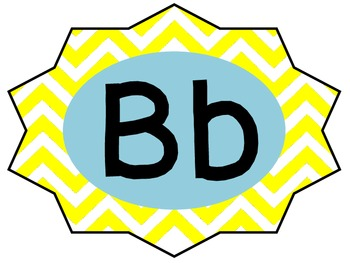 Chevron Letters, Numbers and Number Words