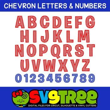 Chevron Letters SVG Chevron SVG SVG Letters Cricut Files Silhouette Files DXF