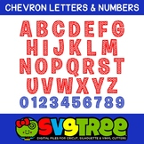 Chevron Letters SVG Chevron SVG SVG Letters Cricut Files S