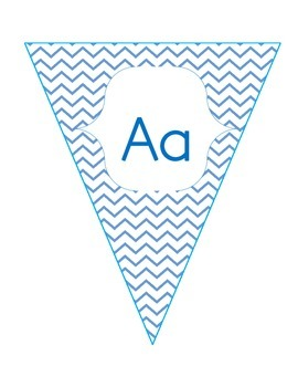 Chevron Letters and Numbers Banner