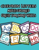 Chevron Letters - word wall letters and decorating