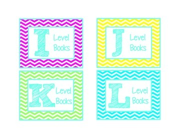 Chevron Leveled Library Labels {Colorful}