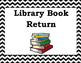 Chevron Library Book Return Label