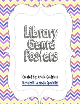 Chevron Library Genre Posters