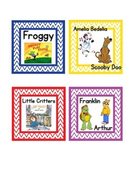 Chevron FREE Library Labels