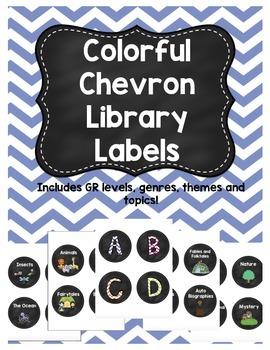Chevron Library Labels