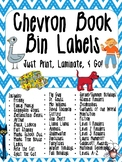 Chevron Library Labels - Chevron Book Bin Labels - Chevron