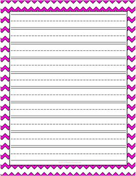 Chevron Lined Writing Paper Set Pack of 20