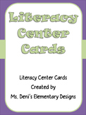 Chevron Literacy Center Cards