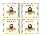 Chevron Literacy Station Center Cards