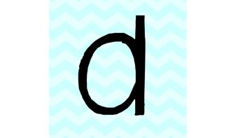 Chevron Lowercase Letters