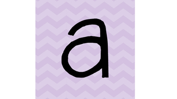 Chevron Lowercase Letters