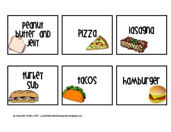 Chevron Lunch Choice Set