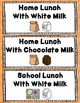 Chevron Lunch Count and Attendance Clip Chart (Editable)