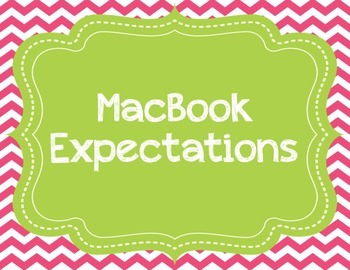 Chevron MacBook Rules or Expectations Printable Posters