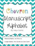 Chevron Manuscript Alphabet Posters