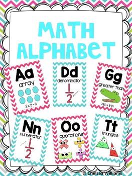 Chevron Math Alphabet