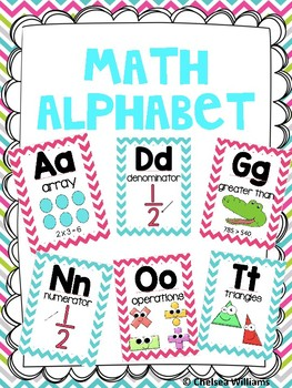 Math Alphabet- Chevron