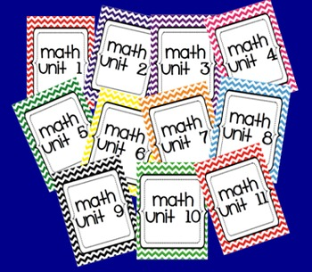 Chevron Math Binder Covers