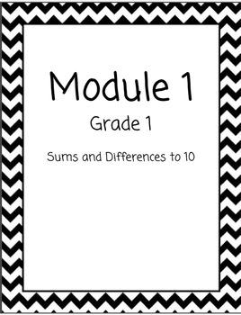 Chevron Math Binder Covers for Modules - Grade 1