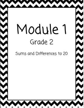 Chevron Math Binder Covers for Modules - Grade 2