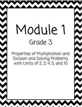 Chevron Math Binder Covers for Modules - Grade 3