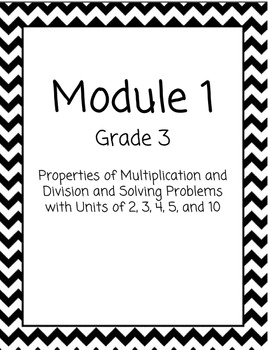 Chevron Math Binder Covers for Modules - Grade 3