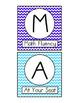 Chevron Math Center Signs