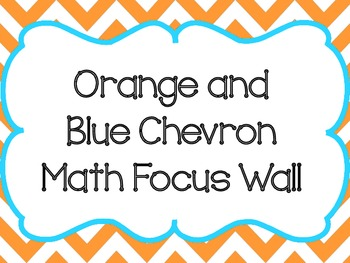 Chevron Math Focus Wall-Blue and Orange