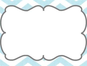 Chevron Math Focus Wall- Blue and Grey