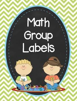 Chevron Math Group Labels