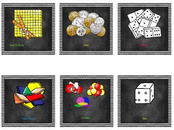 Chevron Math Labels- 2nd Grade