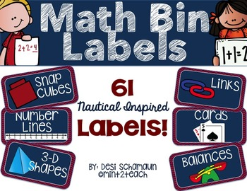 Chevron Math Labels {Nautical Inspired}