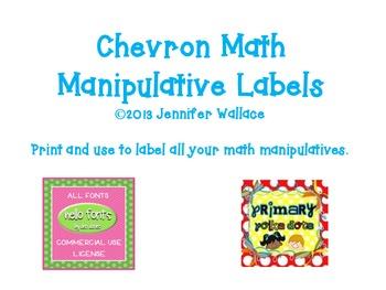 Chevron Math Manipulative Labels