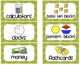 Chevron Math Manipulative Labels (Green)