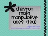 Chevron Math Manipulative Labels (Teal)