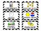 Chevron Math Manipulative Labels (black & white)