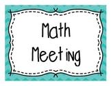 Chevron Math Meeting Labels