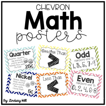 Chevron Math Posters
