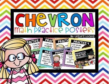 Chevron Math Practice Posters