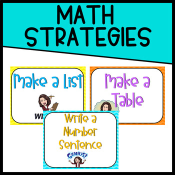 Chevron Math Strategy Posters
