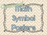 Chevron Math Symbol Posters