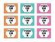 Chevron Math Tub Labels - Freebie