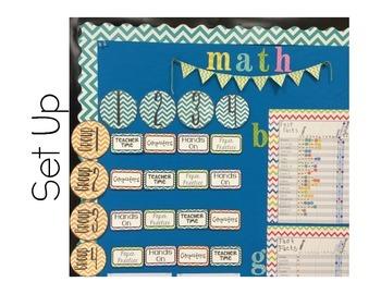 Chevron Math Workshop Rotations Board